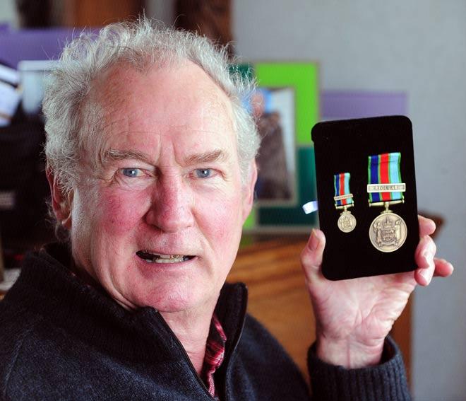 New Zealand Defence Service Medal recipient Jim Gillies, 2011
