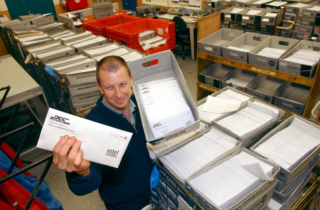 Local body election papers in the mail