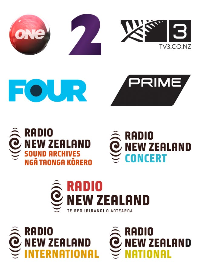 Radio and TV logos
