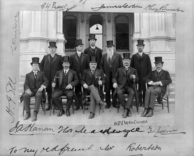 Prime Minister Thomas Mackenzie and cabinet, 1912
