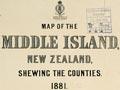 County boundaries, 1881: South Island