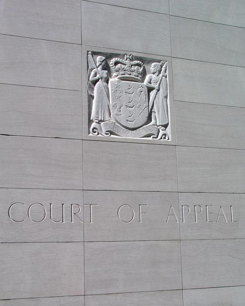 Coat of arms, Court of Appeal building, Wellington