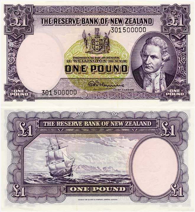 Second series of banknotes: £1