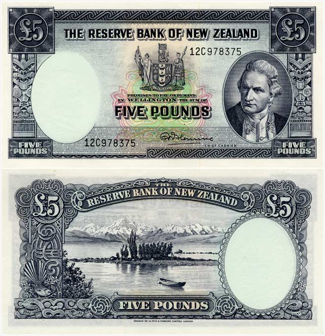 Second series of banknotes: £5