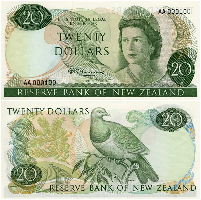 Third series of banknotes: $20