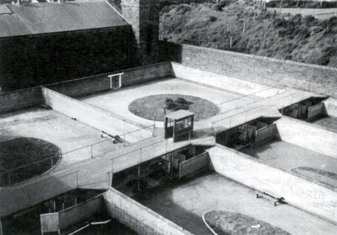 Exercise yard, Mt Eden, from the Hume era