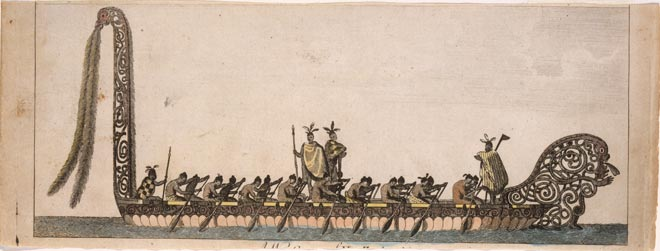 'A war canoe of New Zealand'
