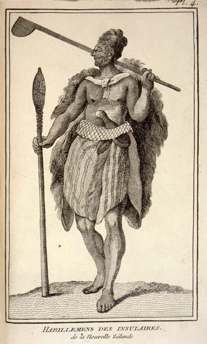 Depiction of Māori by a French artist
