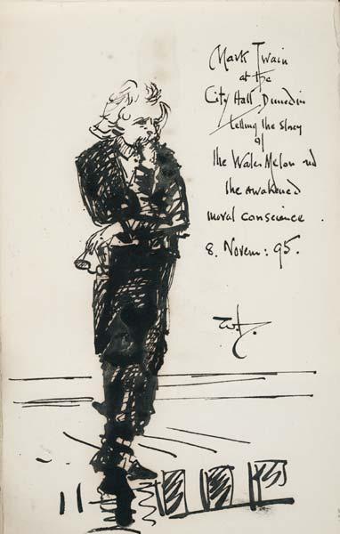 Mark Twain in Dunedin
