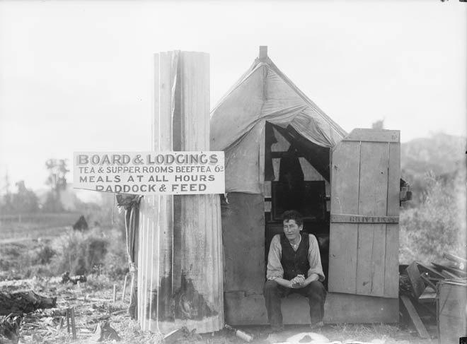 Tent hotel in Taranaki