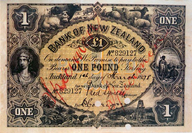 Trading bank banknotes: Bank of New Zealand note