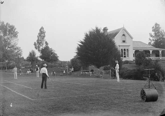 Colonel William Lyon's tennis court, 1880s