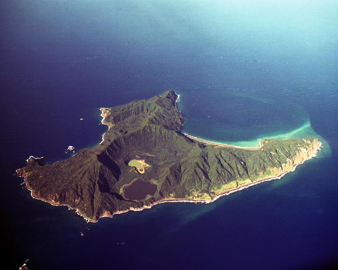 Aerial view of Raoul Island