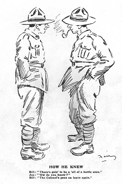 Trench humour, 1917