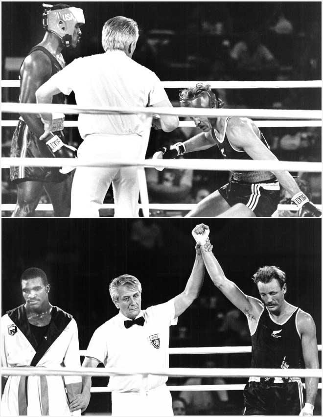 Kevin Barry versus Evander Holyfield, Los Angeles, 1984