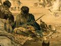 Māori playing draughts, 1840s