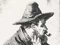 Swagman smoking a pipe