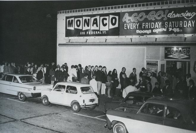 Lining up outside the Monaco