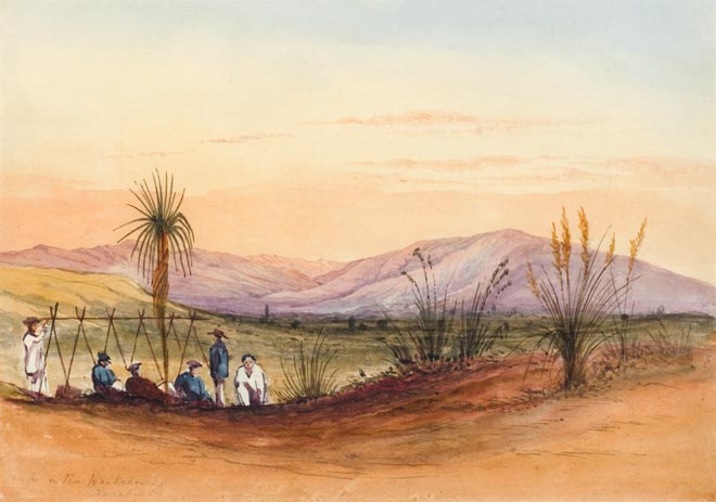 Explorers' camp, Canterbury Plains, 1848