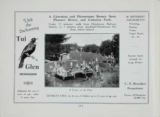 Tui Glen camp, 1933