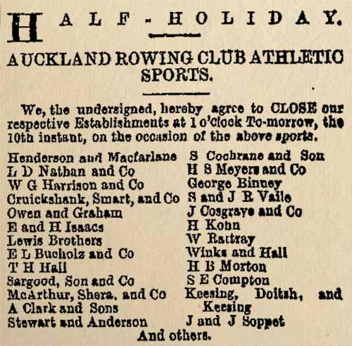 Half-holiday closure, 1871
