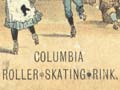 Roller skating rink ticket, 1887