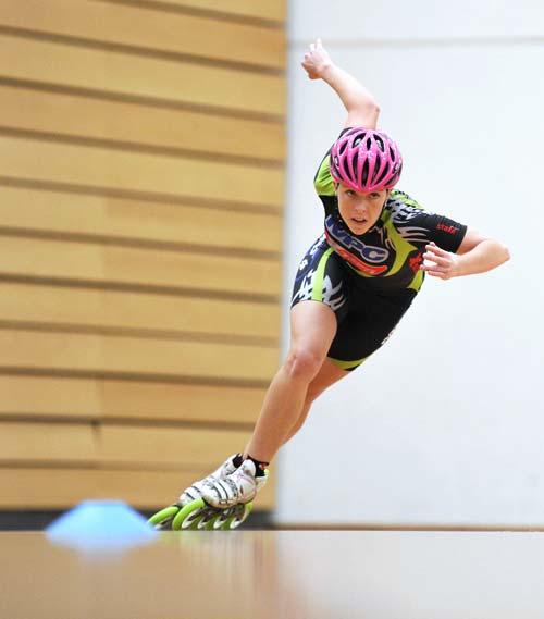 Speed skater Nicole Begg, 2010