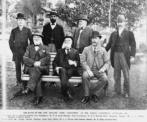 Members of the Board of the New Zealand Press Association, 1902