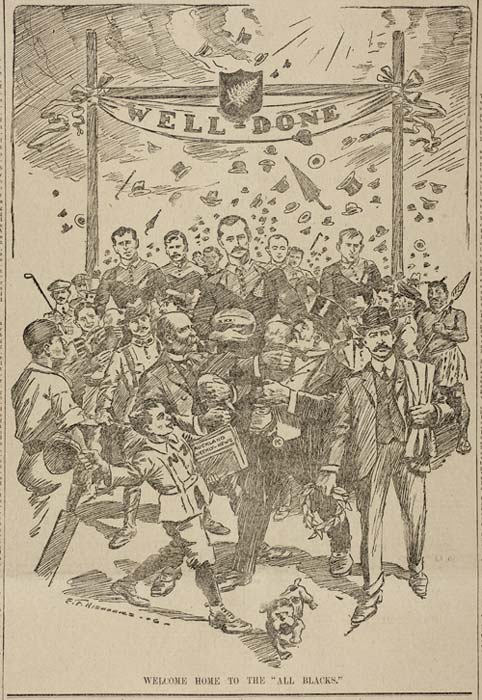 New Zealand Herald welcomes the 1905 All Blacks