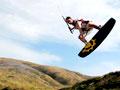 Brian Walters kite surfing