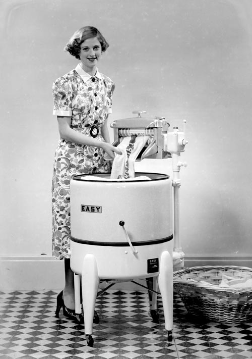 A Woman And Her Washing Machine 1940 Washing Cleaning