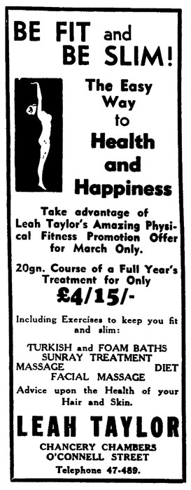 Women and fitness: 1930s advertisement