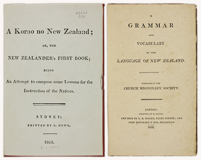 A korao no New Zealand, 1815