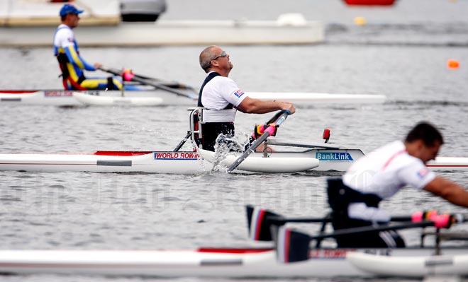 Danny McBride, adaptive rower