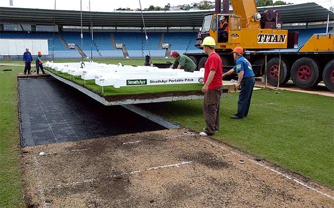 Portable cricket pitch
