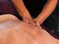 Bridget Maher and massage therapist