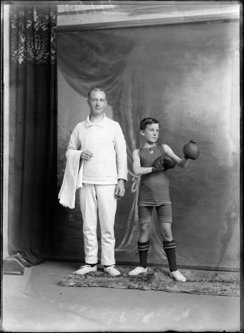 Boy boxer, 1920s
