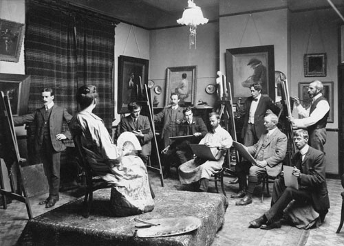 Canterbury Society of Arts class, about 1912