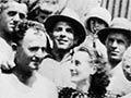 Jean Devanny with striking workers in Australia, 1935