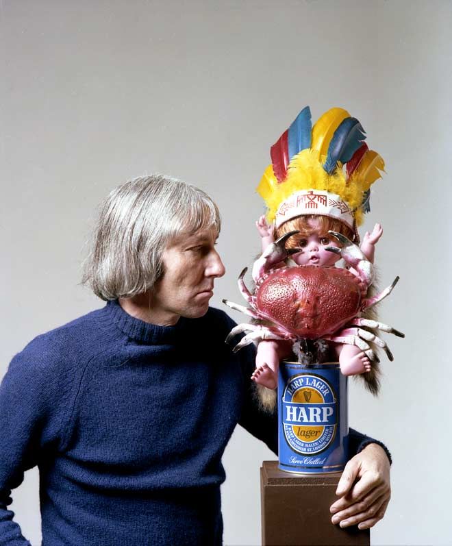 Sculptor Don Driver is seen here in 1979 with one ...