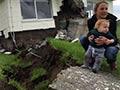 House built across a fault