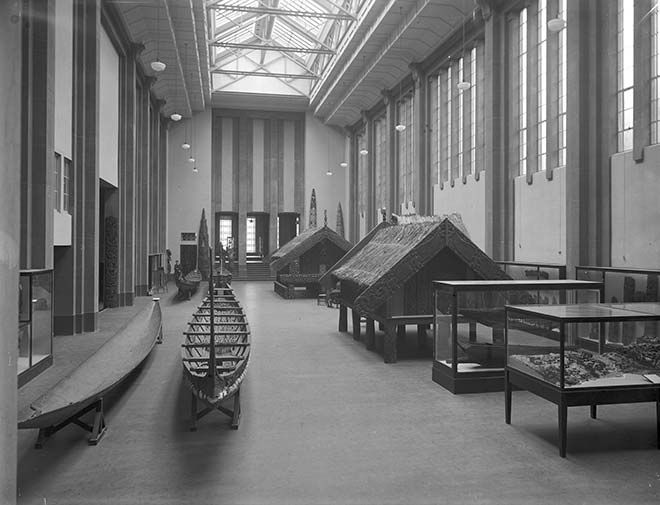 Māori Hall at the Dominion Museum, around 1936