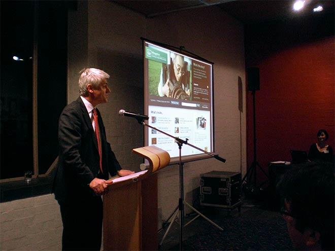 Launching the 'Waikato' entry, 2010