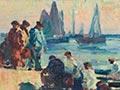 Sydney Lough Thompson, 'Last rays, cale de la criee, Concarneau'