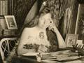 Maggie Papakura at her desk, 1910