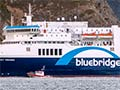 Bluebridge ferry Strait Feronia coming into Wellington harbour