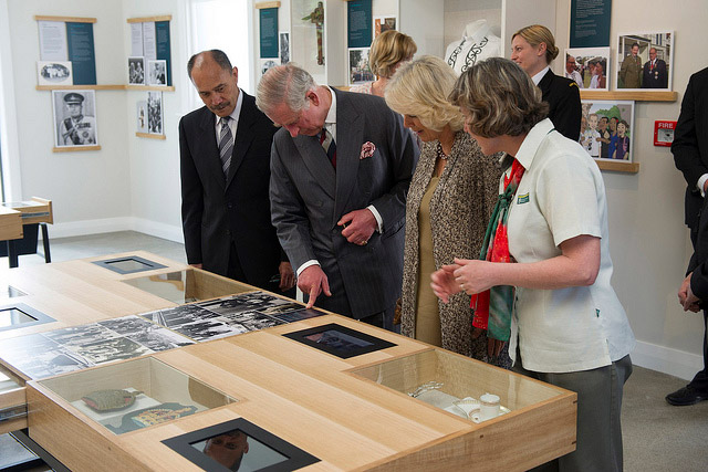 Prince of Wales visiting Government House centre