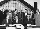 First meeting of the Maori Education Foundation at Parliament Buildings, 1961