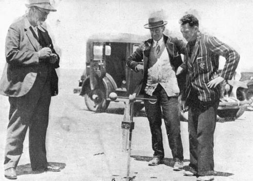 Charles Edward Adams (left) and two unidentified men, 1932