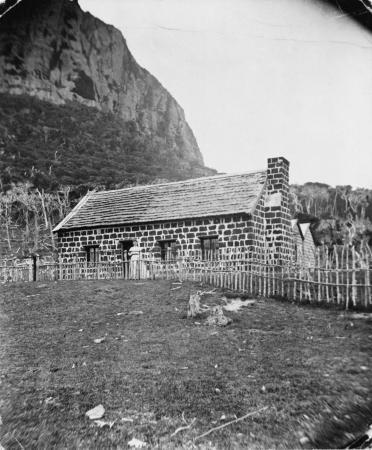 The Baucke house, Chatham Island, in 1874